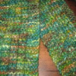 Another Universal Scarf, knit with baby alpaca.