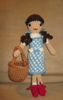 Dorothy with Toto's basket.